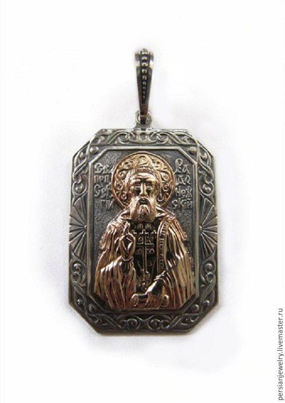 pectoral icon: Pendant 'Sergius Of Radonezh', Wearable icon, Sevastopol,  Фото №1