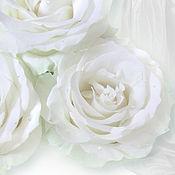 Картины и панно handmade. Livemaster - original item White rose picture. Handmade.