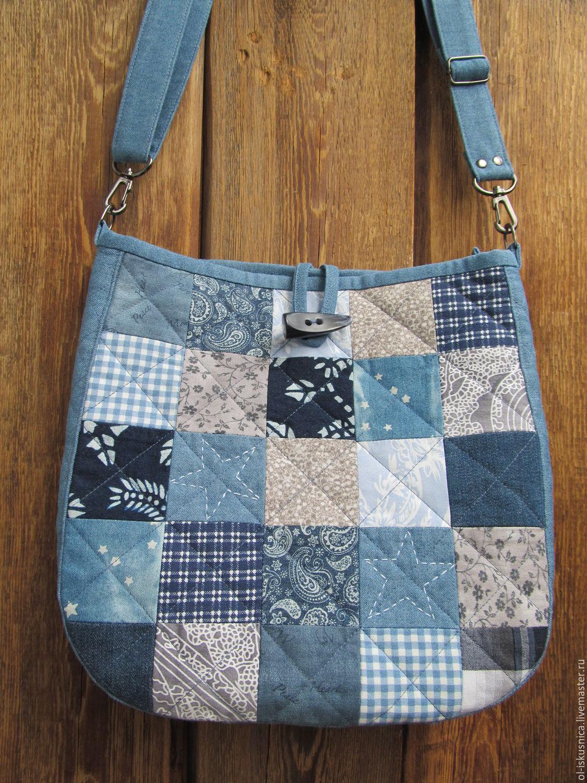 Сшить пляжную сумку в стиле пэчворк 34