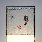 Для дома и интерьера handmade. Livemaster - original item Lamp Winter time. Tiffany decorative table lamp. Handmade Home decor. Handmade.