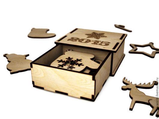 Декупаж и роспись ручной работы. Ярмарка Мастеров - ручная работа. Купить ЕУ-0000052 Новогодний подарочный набор 1. Handmade.
