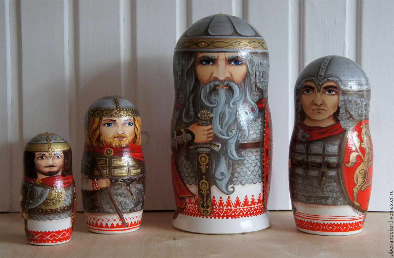 Matryoshka Russian heroes, Dolls1, Tyumen,  Фото №1