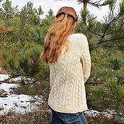 """Одежда ручной работы. Ярмарка Мастеров - ручная работа Вязаный кашемировый свитер """"Нежное печенье"""". Handmade."""