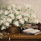 Картины и панно handmade. Livemaster - original item Oil painting of White lilac impressionism. Handmade.
