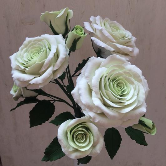Цветы ручной работы. Ярмарка Мастеров - ручная работа. Купить Розы на стеблях из полимерной глины. Handmade. Роза, интерьерная композиция
