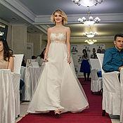 Свадебный салон ручной работы. Ярмарка Мастеров - ручная работа Греческое платье с позолоченным кружевом. Handmade.