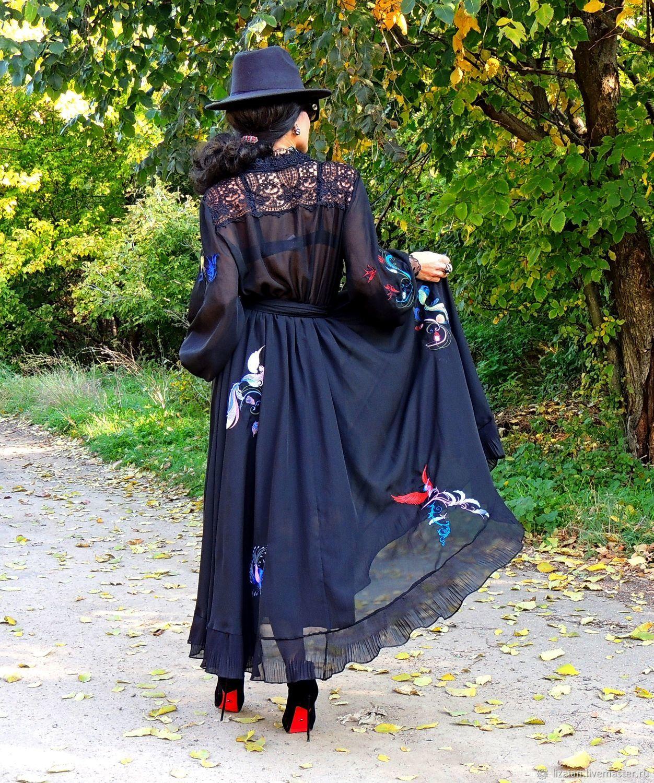 Макси платье из шифона с вышивкой и кружевом (554), Платья, Одесса,  Фото №1