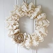 Подарки к праздникам ручной работы. Ярмарка Мастеров - ручная работа Текстильный веночек. Handmade.