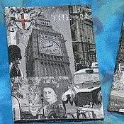 """Канцелярские товары ручной работы. Ярмарка Мастеров - ручная работа """"Лондон-Париж"""" Винтажные обложки на паспорт. Handmade."""