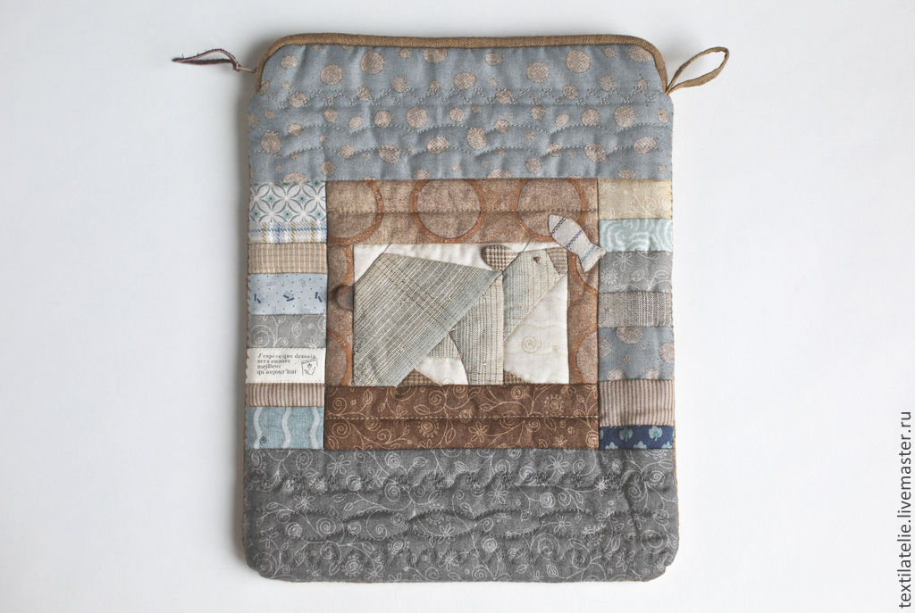 """Cover for iPad """"Polar bear with fish"""" made of fabric, Classic Bag, Moscow,  Фото №1"""