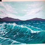 Картины ручной работы. Ярмарка Мастеров - ручная работа Море. Волны.. Handmade.