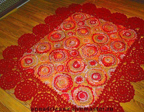 """Текстиль, ковры ручной работы. Ярмарка Мастеров - ручная работа. Купить покрывало """"Сказки Востока"""". Handmade. Покрывало, вязание из мотивов"""