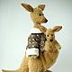 Куклы и игрушки ручной работы. Заказать Кенгуру с кенгурёнком (выкройка). Юнусова Аделя (мишки тедди). Ярмарка Мастеров. Кенгуру с кенгурёнком