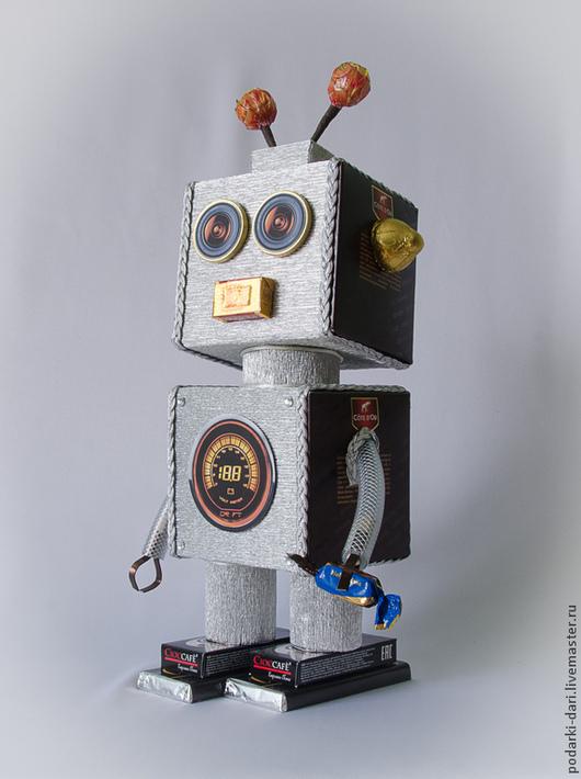 Персональные подарки ручной работы. Ярмарка Мастеров - ручная работа. Купить Робот  из конфет Конфеткин 001. Handmade. Робот
