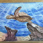 Картины ручной работы. Ярмарка Мастеров - ручная работа Морская черепаха. Handmade.