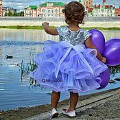 Платье ручной работы. Ярмарка Мастеров - ручная работа Пышное нарядное платье для девочки, платье ярусами, платье с регилином. Handmade.