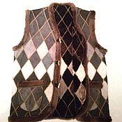 Одежда ручной работы. Ярмарка Мастеров - ручная работа Жилет из натурального меха овчины. Handmade.