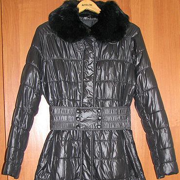 Винтаж ручной работы. Ярмарка Мастеров - ручная работа Винтажная одежда: Черное пальто немецкой фирмы Damo. Handmade.