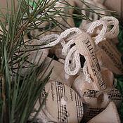 Подарки к праздникам ручной работы. Ярмарка Мастеров - ручная работа Забытая Мелодия. Набор елочных игрушек. Handmade.
