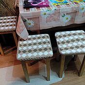 Кухня Чехлы на стулья, табуретки купить на Ярмарке Мастеров, Для дома и интерьера ручной работы