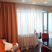 Для дома и интерьера ручной работы. Ярмарка Мастеров - ручная работа Оранжевый текстиль. Handmade.