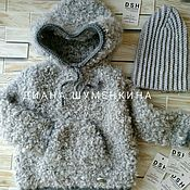 Одежда детская handmade. Livemaster - original item Knitted cardigan hat. Handmade.