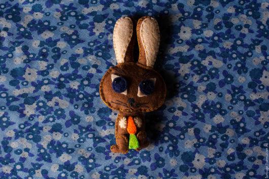 Куклы и игрушки ручной работы. Ярмарка Мастеров - ручная работа. Купить Кролик Роберт. Handmade. Коричневый, фетр, игрушка из фетра