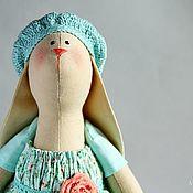 Tilda Toys handmade. Livemaster - original item Bunny Tilda Shabby chic interior toy mint Tiffany coral. Handmade.