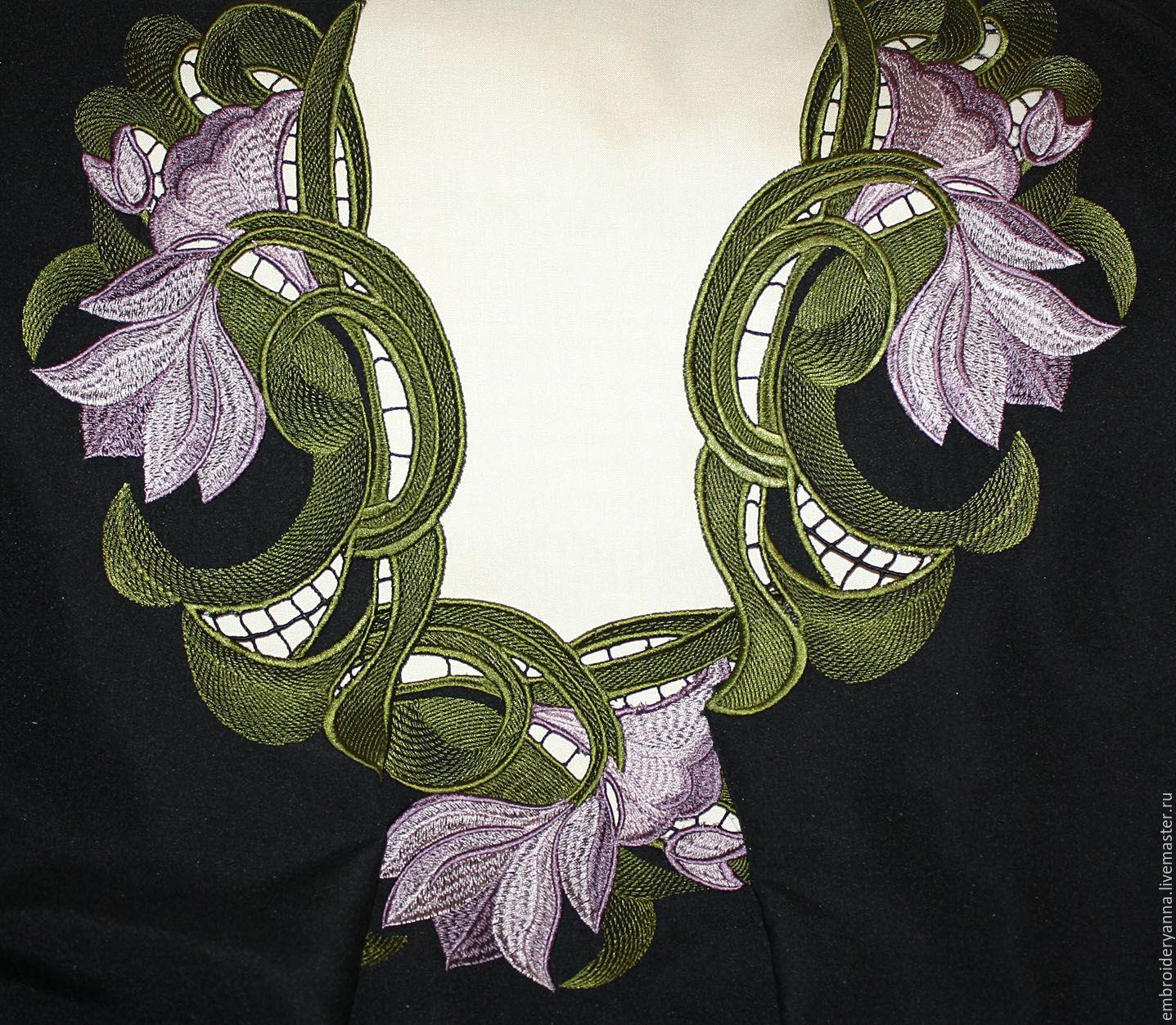 Ришелье дизайн вышивки