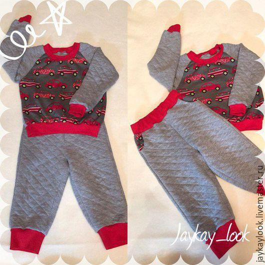 """Одежда для мальчиков, ручной работы. Ярмарка Мастеров - ручная работа. Купить Детский костюм """"Машинки"""". Handmade. Комбинированный, костюм для мальчика"""
