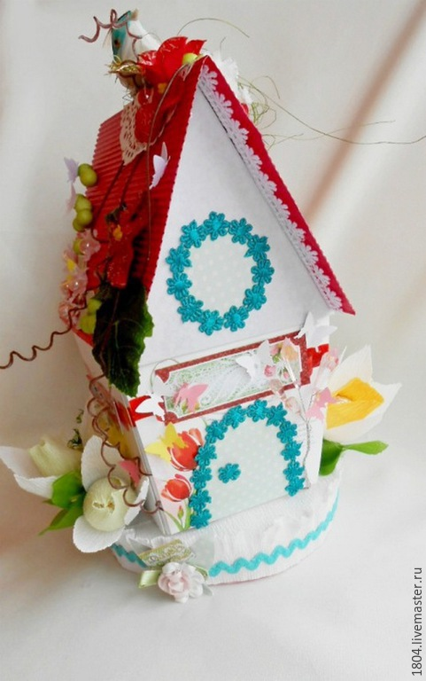 """Персональные подарки ручной работы. Ярмарка Мастеров - ручная работа. Купить Композиция из конфет """"Любимый домик"""". Handmade. Разноцветный, домик"""