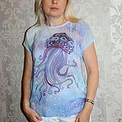 """Одежда ручной работы. Ярмарка Мастеров - ручная работа Батик  """"Блуза  - Медуза"""". Handmade."""