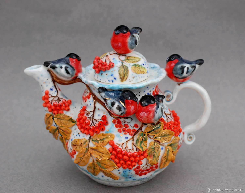 The tea pot 'Snegiri', Teapots & Kettles, Moscow,  Фото №1