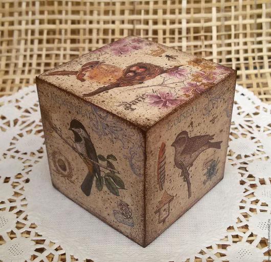 Деревянные кубики для фотосессий, массив сосны, декупаж
