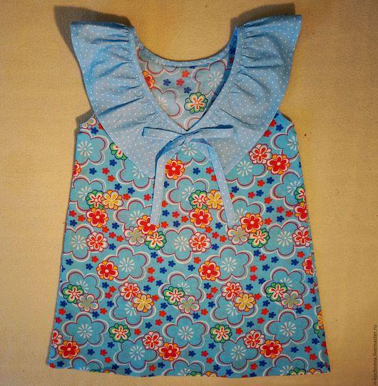 Одежда для девочек, ручной работы. Ярмарка Мастеров - ручная работа. Купить Детское платье с рюшей в горошек. Handmade. Разноцветный