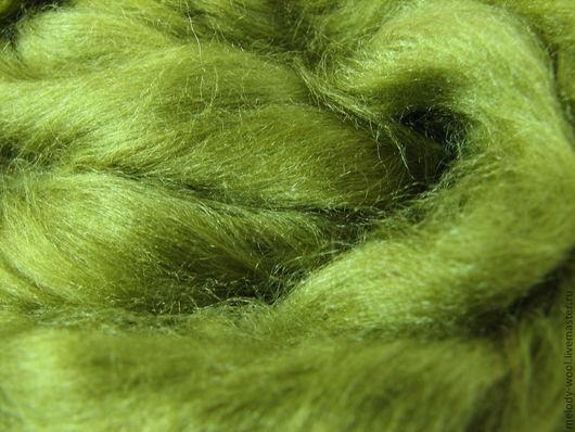 Валяние ручной работы. Ярмарка Мастеров - ручная работа. Купить Шелк Тусса. Цвет Спаржа (Asparagus). Handmade. Зеленый