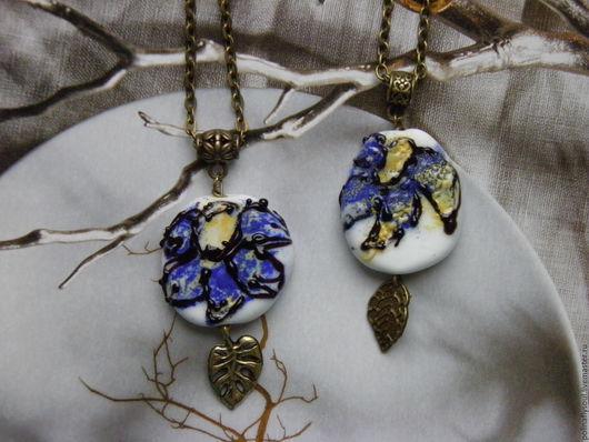 """Кулоны, подвески ручной работы. Ярмарка Мастеров - ручная работа. Купить Подвеска """"Синий цветок"""". Handmade. Lampwork (лэмпворк), glass"""