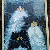 Картины и панно ручной работы. Ярмарка Мастеров - ручная работа Смешные коты. Handmade.