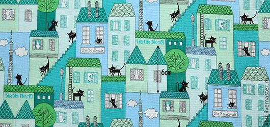 Шитье ручной работы. Ярмарка Мастеров - ручная работа. Купить Ткань Коты. Handmade. Ткань для творчества, тильда, хлопок 100%