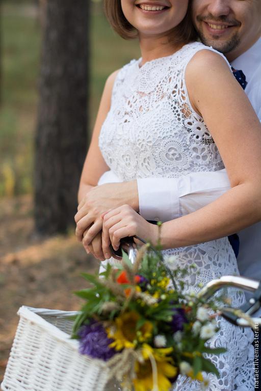 """Платья ручной работы. Ярмарка Мастеров - ручная работа. Купить Платье """"Невеста """". Handmade. Белый, ирландское вязание"""