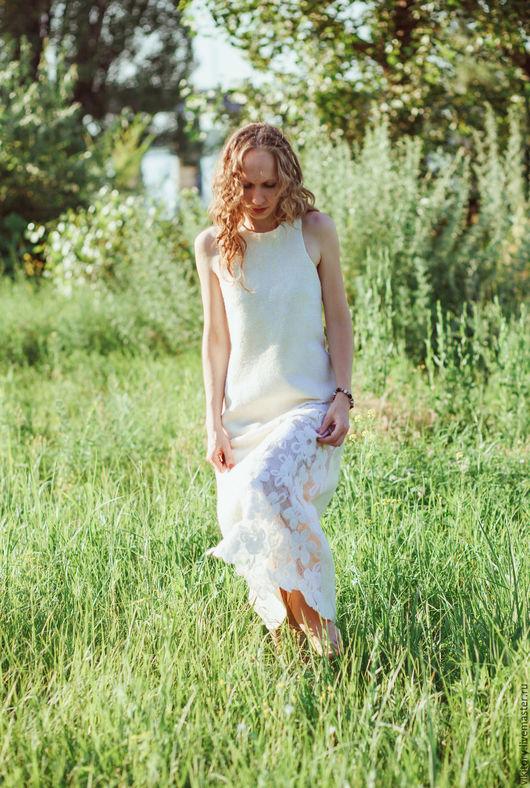 """Платья ручной работы. Ярмарка Мастеров - ручная работа. Купить Платье """"Поле белых цветов"""" резерв. Handmade. Белый"""