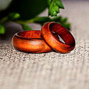 Украшения handmade. Livemaster - original item Wooden Apple tree rings custom sizes RG1. Handmade.