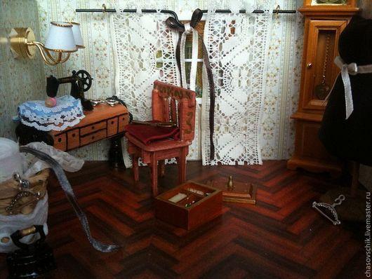 """Кукольный дом ручной работы. Ярмарка Мастеров - ручная работа. Купить Румбокс """"Швейная комната"""". Handmade. Румбокс, металл"""