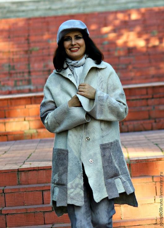 """Верхняя одежда ручной работы. Ярмарка Мастеров - ручная работа. Купить Авторское пальто """"White ash"""". Коллекция """"Пепел"""".. Handmade."""