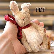 Материалы для творчества ручной работы. Ярмарка Мастеров - ручная работа Выкройка зайца тедди 12 см. Handmade.