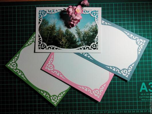 Рамочка для фото 10 х15 см Кардсток текстурированный, фотобумага 4 цвета узорная часть приклеена к фотобумаге по трём сторонам
