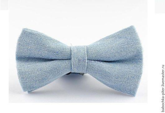 Галстуки, бабочки ручной работы. Ярмарка Мастеров - ручная работа. Купить Джинсовая галстук-бабочка. Handmade. Голубой, джинса