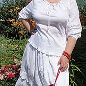 Одежда ручной работы. Ярмарка Мастеров - ручная работа Летняя юбка, блуза. Handmade.