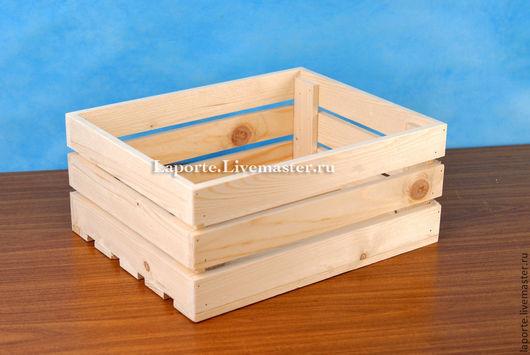 Деревянный реечный ящик для подарочного наборы, набора фруктов, сосна