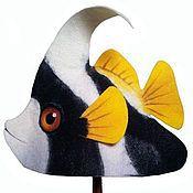 """Для дома и интерьера ручной работы. Ярмарка Мастеров - ручная работа Шапка для бани """"Рыба-бабочка"""". Handmade."""